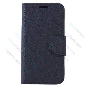 Flip Case Mercury Cross Texture Contrast Leather Samsung Galaxy A5 A500 black