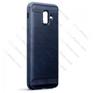 Silicone Case Carbon Samsung A6 (2018) A600 dark blue