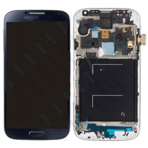 LCD with Touch and Frame Samsung Galaxy S4 I9505 dark blue OCG