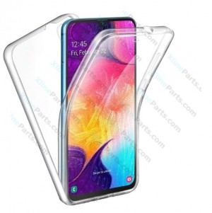 Silicone Case 360 Degree Samsung Galaxy A50 A505 Double Sided clear