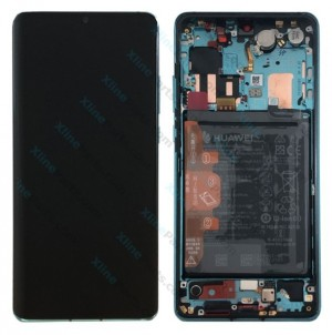 LCD with Touch and Frame Complete Huawei P30 Pro with Internal Battery blue (Original)