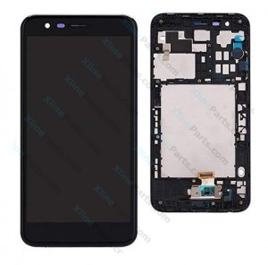 LCD with Touch and Frame LG K10 (2018) K11 black OCG