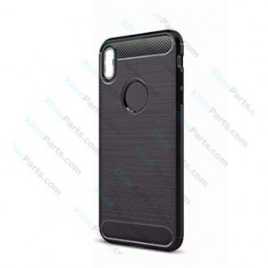 Silicone Case Carbon Apple iPhone XS Max black