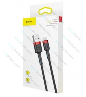 Data Cable Baseus MicroUSB 2m red black (Original)