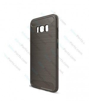 Silicone Case Carbon Rugged Samsung Galaxy S8 G950 light gray