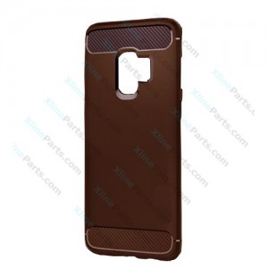 Silicone Case Carbon Samsung Galaxy S9 Plus G965 brown