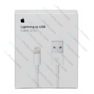 Data Cable USB Apple iPhone Lightning 2m white (Original)