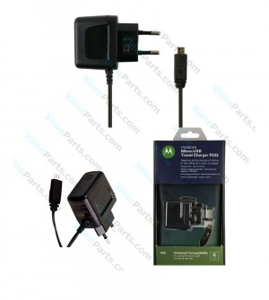 Travel Charger Motorola with Cable Micro USB Adapter 3 Pin black