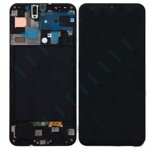 LCD with Touch and Frame Samsung Galaxy A50 A505 black (Original)