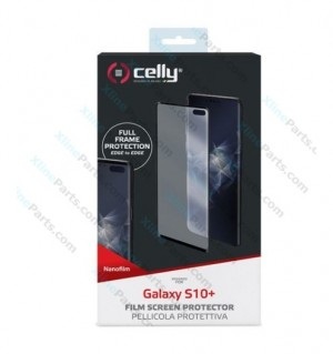 Tempered Glass Screen Protector Celly Samsung Galaxy S10 Plus G975 black