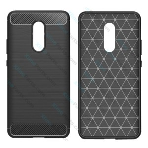 Silicone Case Carbon Huawei Mate 10 Lite black