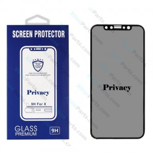 Tempered Glass Screen Protector 10D with Privacy Apple iPhone XS Max black