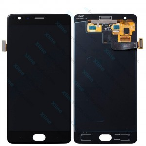 LCD with Touch and Frame OnePlus 3 black OLED
