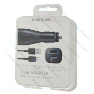 Samsung Dual USB Fast Car Type-C Charger black (Original)