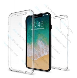 Silicone Case 360 Degree Apple iPhone XS Max Double Sided clear
