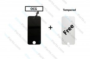 LCD with Touch Apple iPhone 5S black OCG