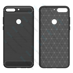 Silicone Case Carbon Huawei Honor Play 7A Y6 black