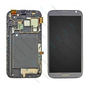 LCD with Touch and Frame Samsung Galaxy N7100 Note 2 gray OCG