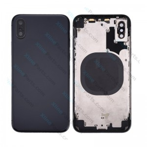 Back Battery and Middle Cover Apple iPhone X black
