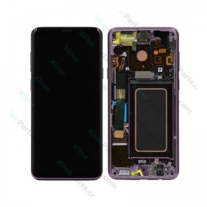 LCD with Touch and Frame Samsung Galaxy S9 Plus G965F purple (Original)