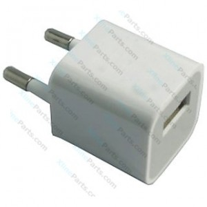 Travel Charger USB Adapter Apple 2 Pin white bulk AAA