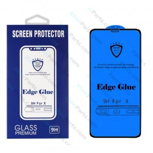 Tempered Glass Screen Protector Edge Glue Samsung Galaxy S9 G960 black