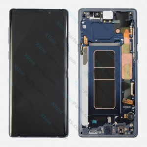 LCD with Touch and Frame Samsung Galaxy Note 9 N960 blue (Original)
