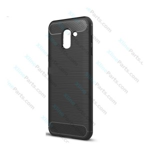 Silicone Case Carbon Samsung Galaxy J6 (2018) J600 black