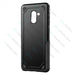 Silicone Case Rugged Carbon Samsung Galaxy A8 (2018) A530 black
