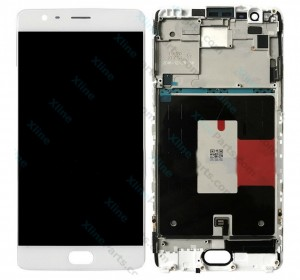 LCD with Touch and Frame OnePlus 5 white HQ