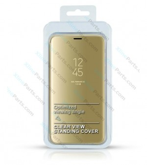 Flip Case Clear View Huawei P30 Pro gold