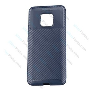 Silicone Case Carbon Huawei Mate 20 Pro dark blue
