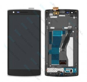 LCD with Touch and Frame OnePlus One black HQ