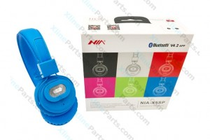 Bluetooth Headphone Nia X5sp blue AAA