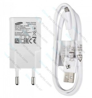 Travel Charger Samsung EP-TA20 MicroUsb 2 Pin Adapter white (Original) bulk