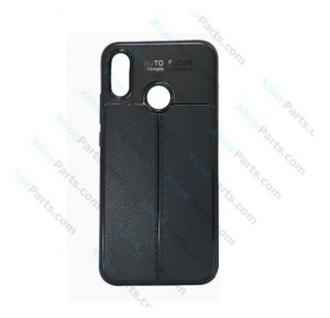 Silicone Case Auto Focus Huawei Y6 (2019) black (Original)