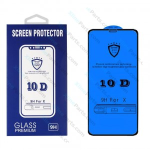 Tempered Glass Screen Protector 10D Apple iPhone 5SE black