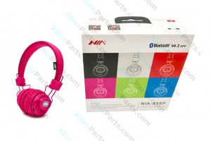 Bluetooth Headphone Nia X5sp pink
