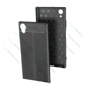 Silicone Case Litchi Sony Xperia XA1 Plus black