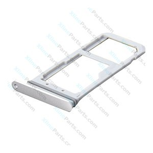 SIM Holder Micro SD Card Holder Samsung Galaxy S7 G930 silver