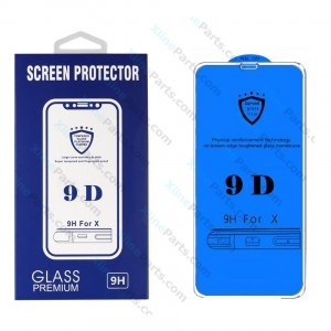 Tempered Glass Screen Protector 9D Samsung Galaxy A6 (2018) A600 white