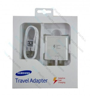 Travel Charger Samsung with Cable Type C Power Adapter 3 Pin white