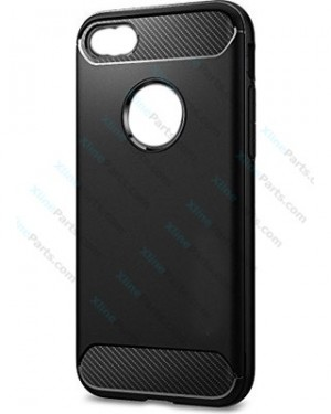 Silicone Case Rugged Carbon iPhone 7/8 black