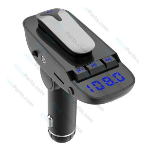 Car Accessories 2 in 1 FM MP3 Player and Wireless Bluetooth Headset black