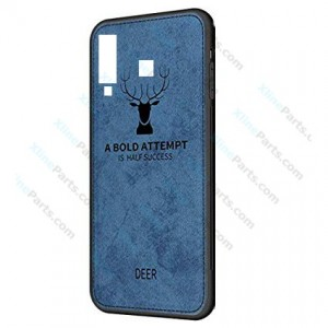 Silicone Case Deer Samsung Galaxy A9 (2018) A920 blue