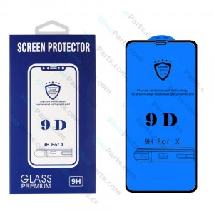 Tempered Glass Screen Protector 9D Huawei Y9 (2019) black