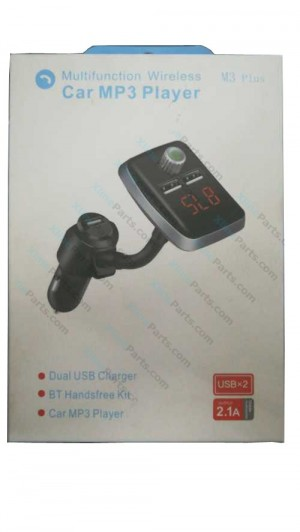 Car Accessories Bluetooth FM Transmitter Modulator MP3 Player Dual USB M3 Plus black