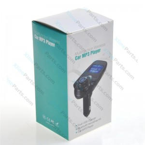 Car Accessories Bluetooth FM Transmitter Modulator MP3 Player Dual USB T11 black