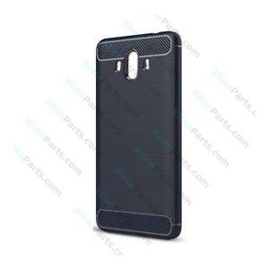 Silicone Case Carbon Huawei Mate 10 dark blue