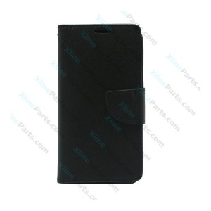 Flip Case Fancy Samsung Galaxy J4 Plus (2018) J415 black